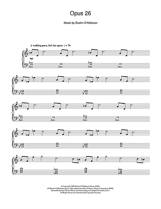 Opus 26 Sheet Music