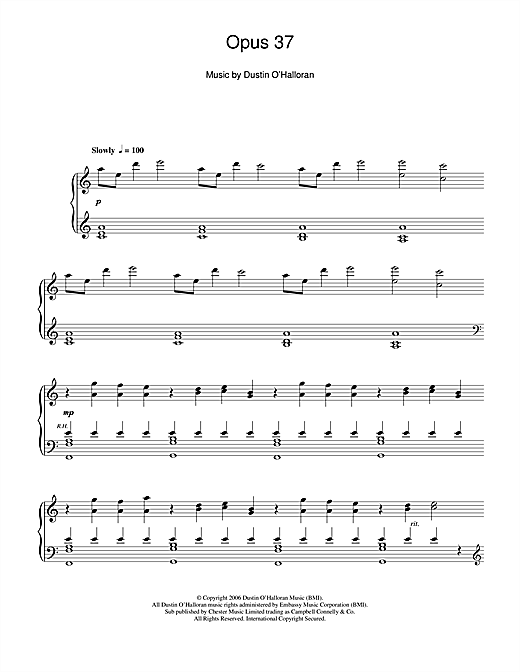 Opus 37 Sheet Music
