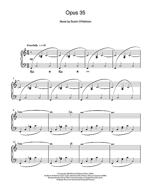 Opus 35 Sheet Music