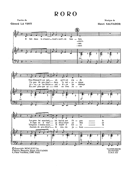 Roro Sheet Music