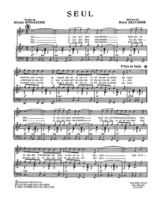 Seul Sheet Music