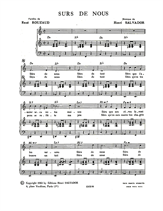 Surs De Nous Sheet Music