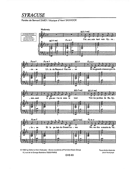 Syracuse Sheet Music
