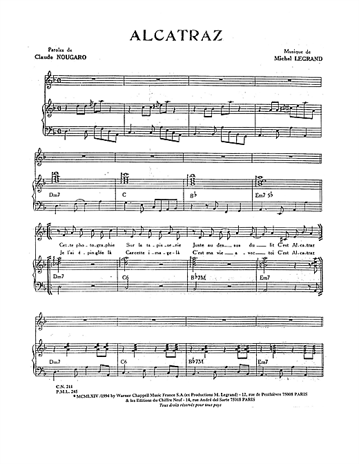 Alcatraz Sheet Music