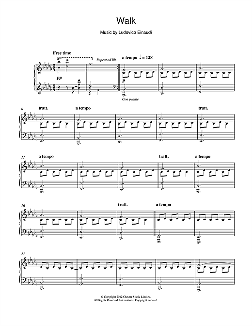 Walk Sheet Music