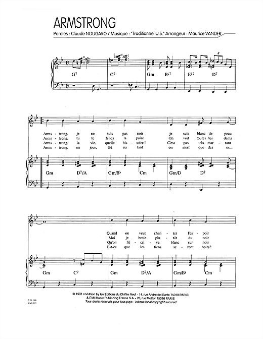 Armstrong Sheet Music
