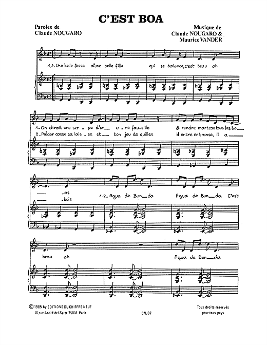 C'est Boa Sheet Music