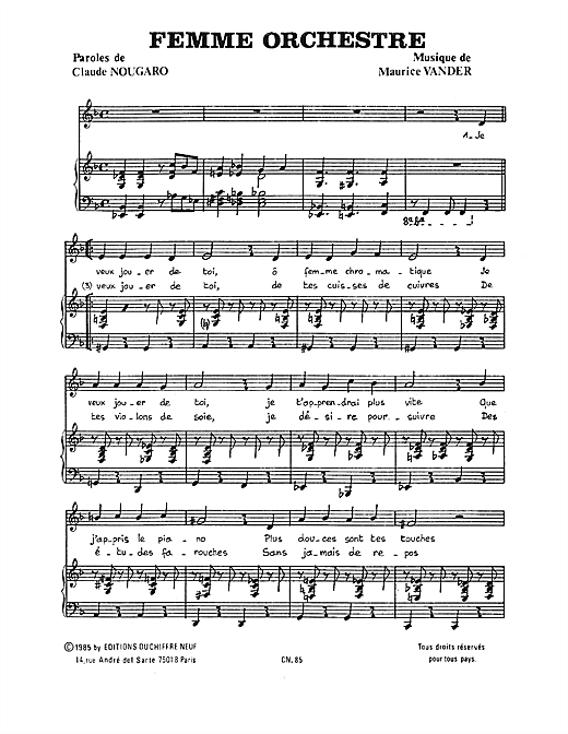 page one of Femme OrchestreASALTTEXT