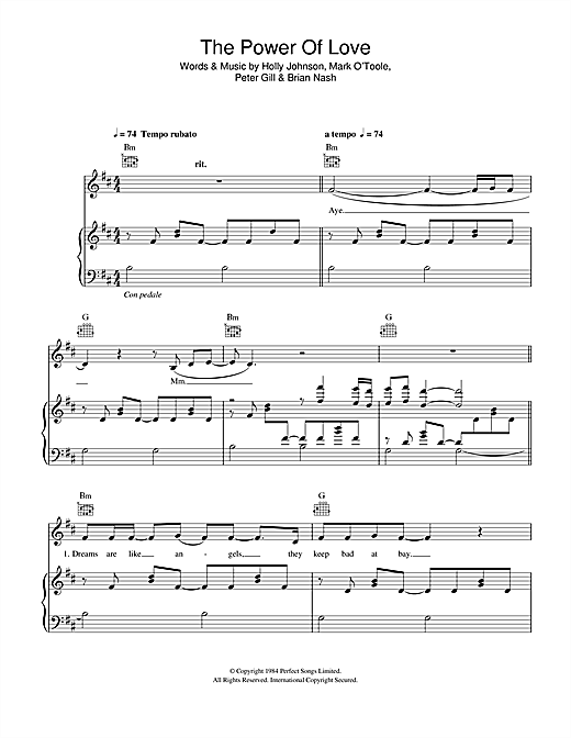 Partition piano The Power Of Love de Gabrielle Aplin - Piano Voix Guitare