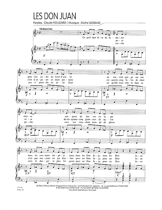 Les Don Juan Sheet Music