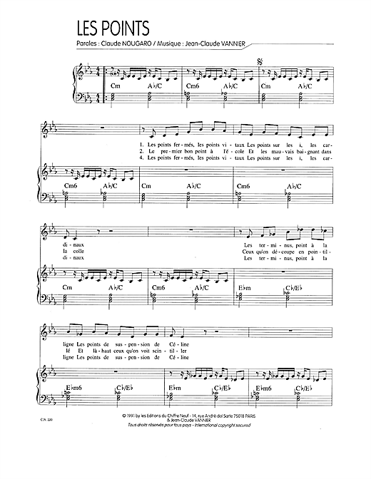 Points Sheet Music