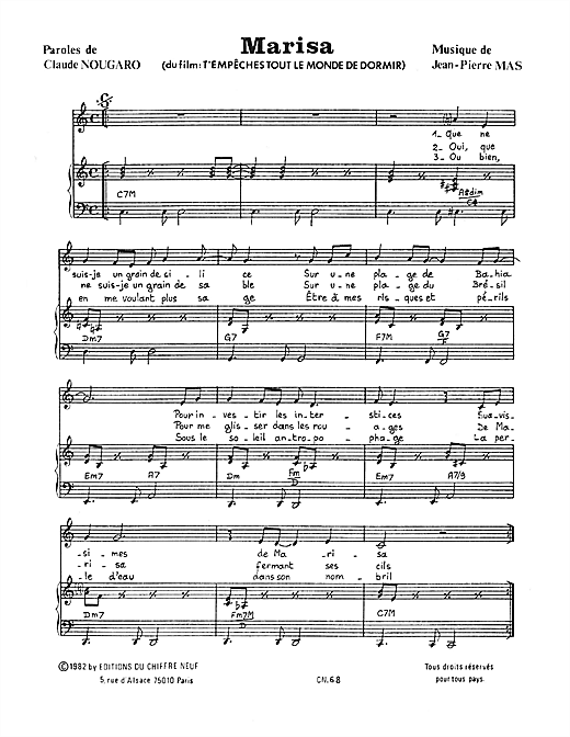 Marisa Sheet Music