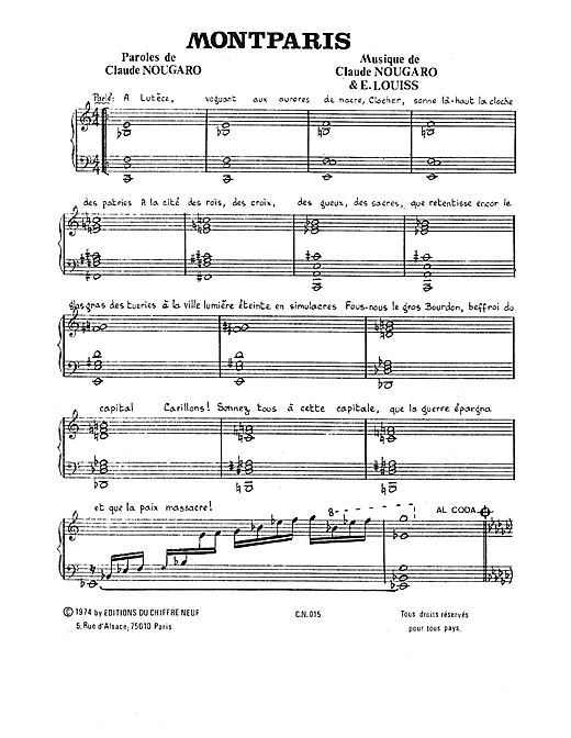 Montparis Sheet Music