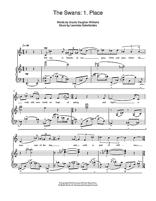 The Swans: 1. Place Sheet Music