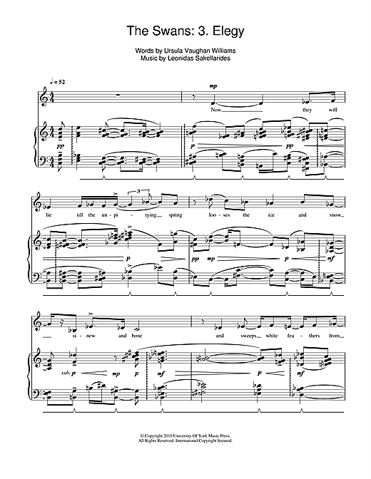 The Swans: 3. Elegy Sheet Music