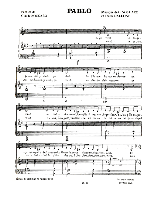 Pablo Sheet Music