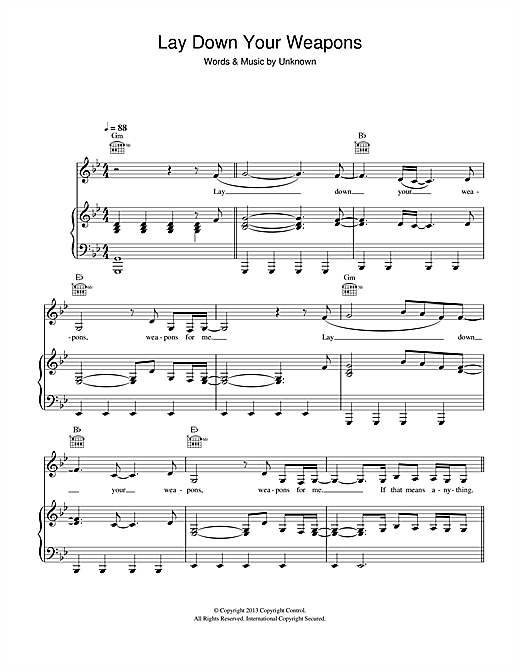 Lay Down Your Weapons (feat. Rita Ora) Sheet Music