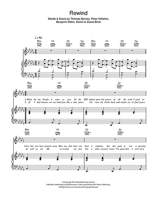 Rewind (feat. Diane Birch) Sheet Music