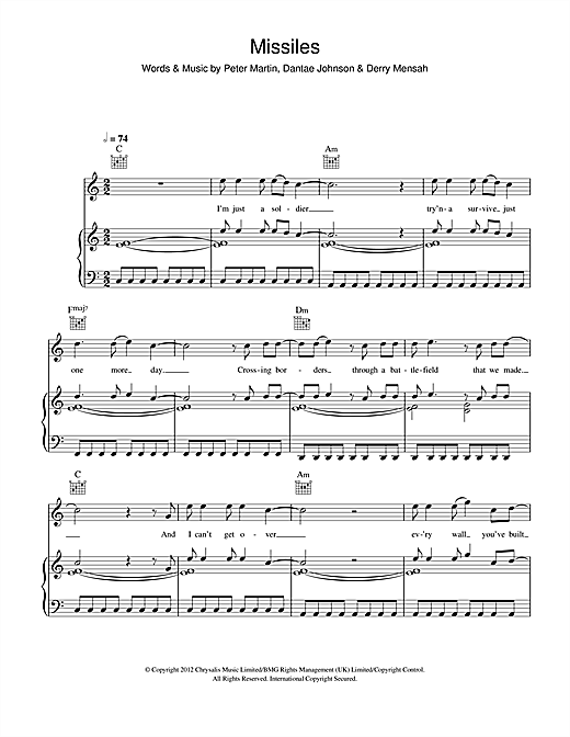 Missiles Sheet Music