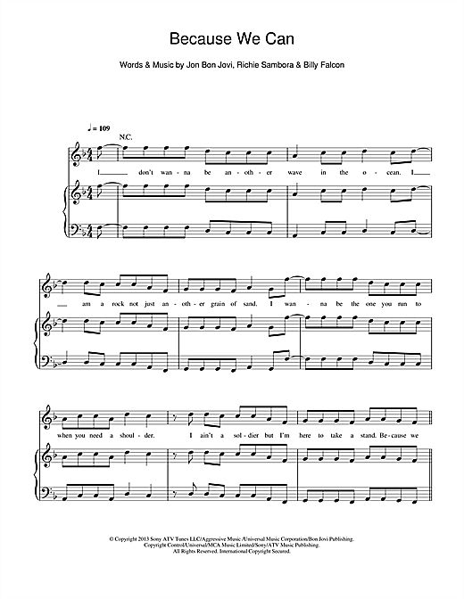 Because We Can Sheet Music