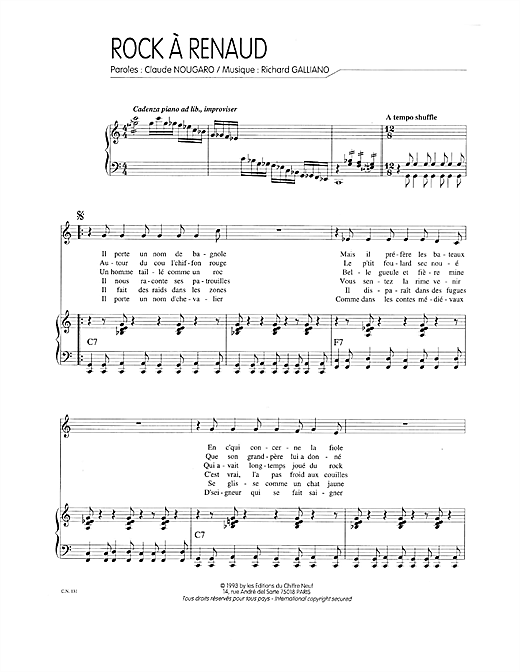 Rock A Renaud Sheet Music