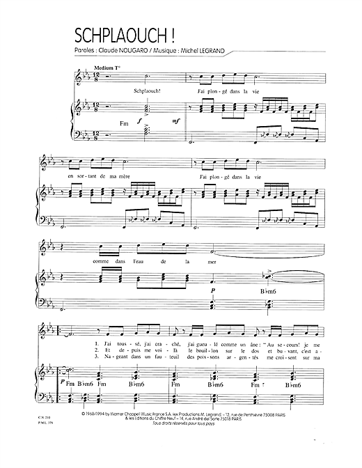Schplaouch Sheet Music