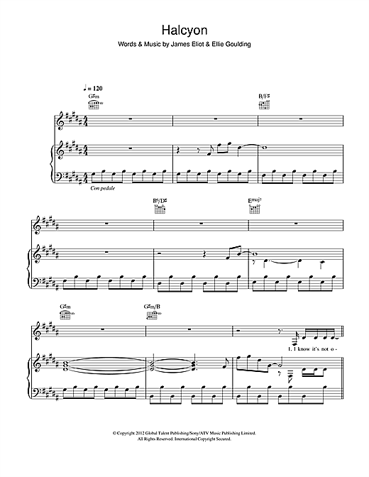 Halcyon Sheet Music