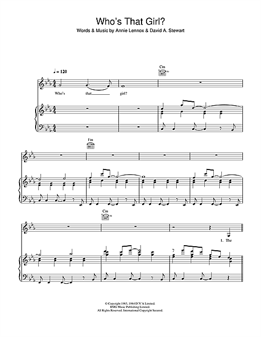 Who's That Girl? Sheet Music