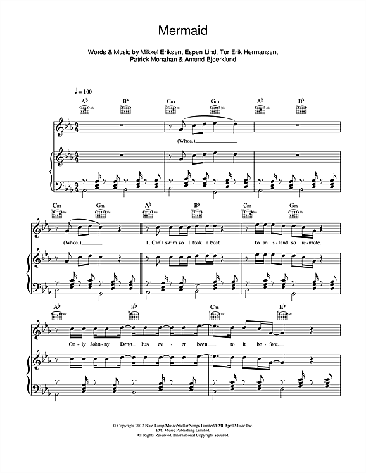 Mermaid Sheet Music