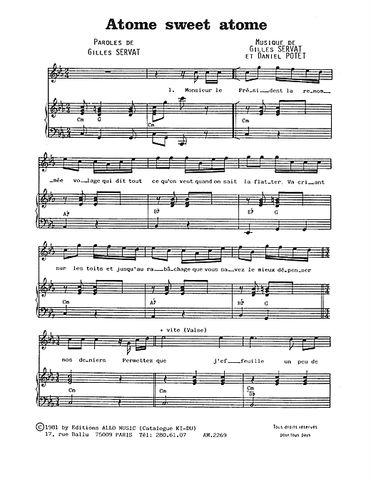 Atome Sweet Atome Sheet Music