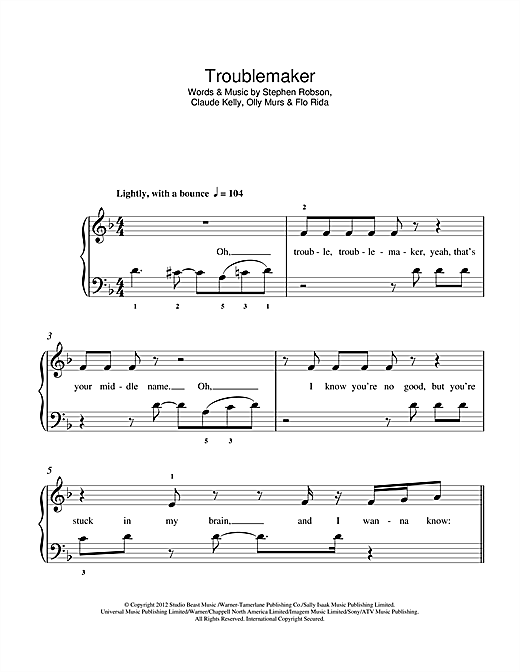 Troublemaker Sheet Music