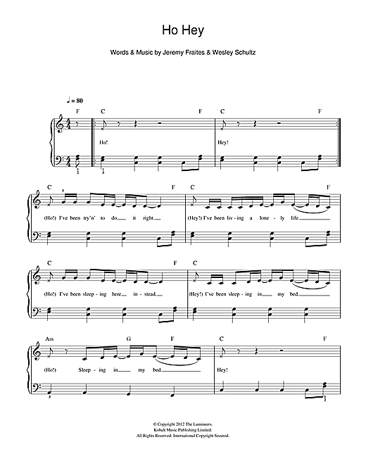 Ho Hey Sheet Music