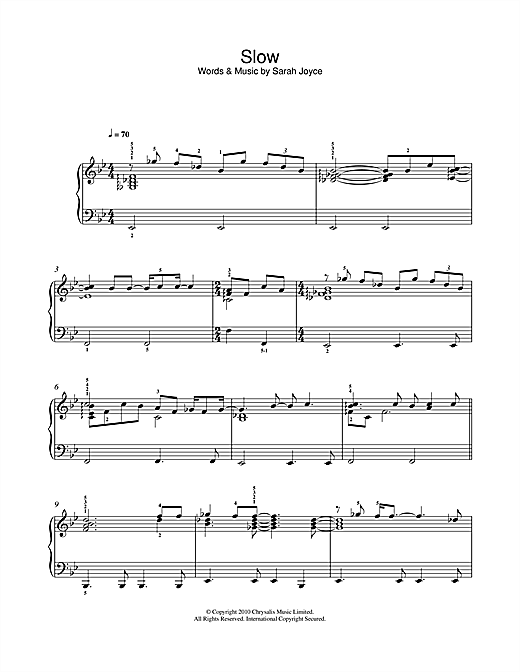 Slow Sheet Music