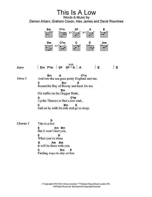 This Is A Low (Guitar Chords/Lyrics)