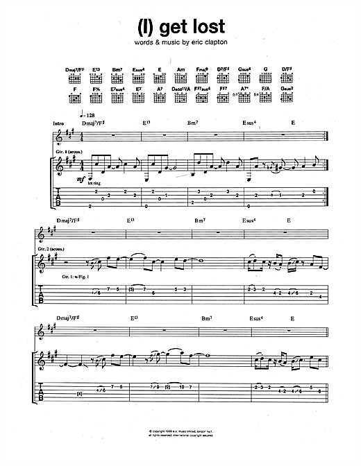 (I) Get Lost Sheet Music