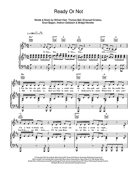 Ready Or Not Sheet Music