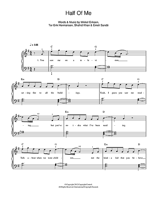 Half Of Me Sheet Music
