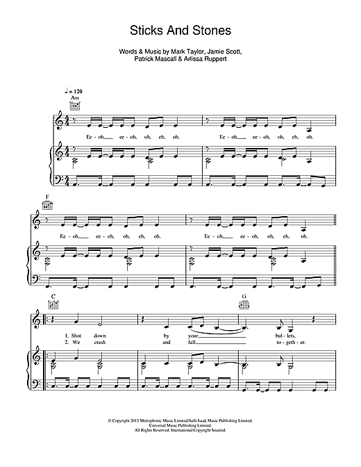 Sticks And Stones Sheet Music
