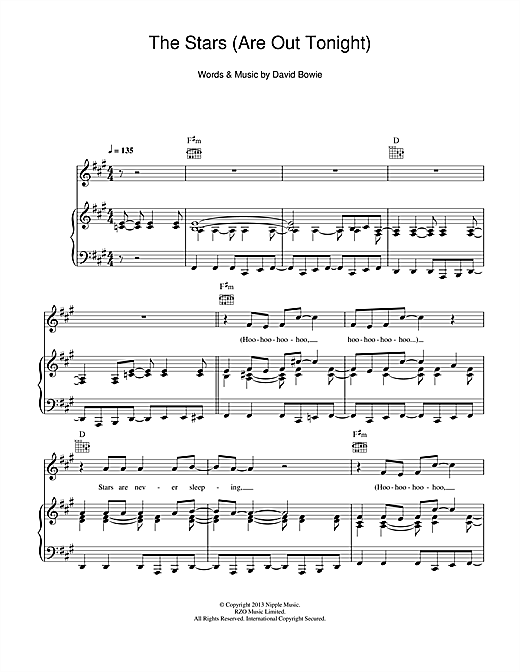 The Stars (Are Out Tonight) Sheet Music