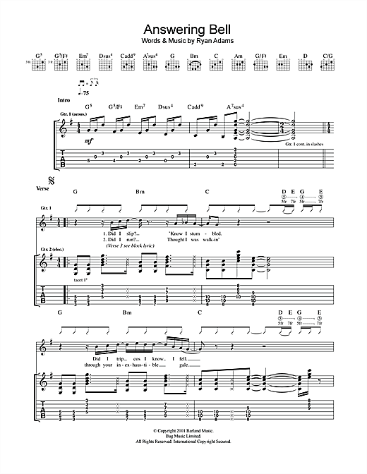 Answering Bell Sheet Music