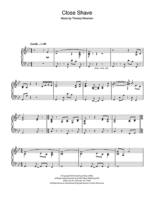 Close Shave (from James Bond Skyfall) Sheet Music