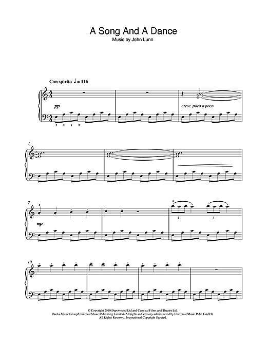 A Song And A Dance Sheet Music