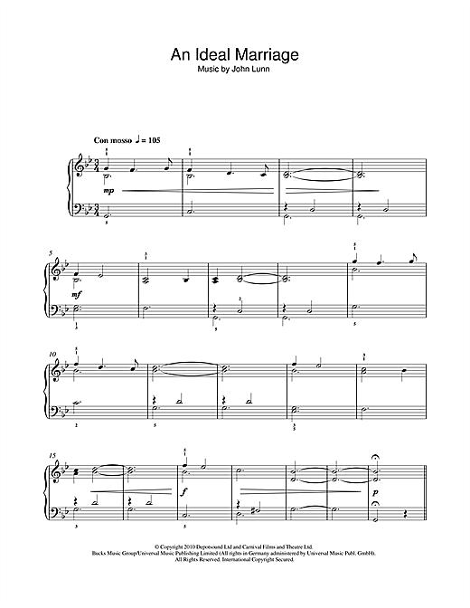 An Ideal Marriage Sheet Music