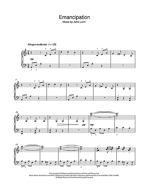 Emancipation Sheet Music