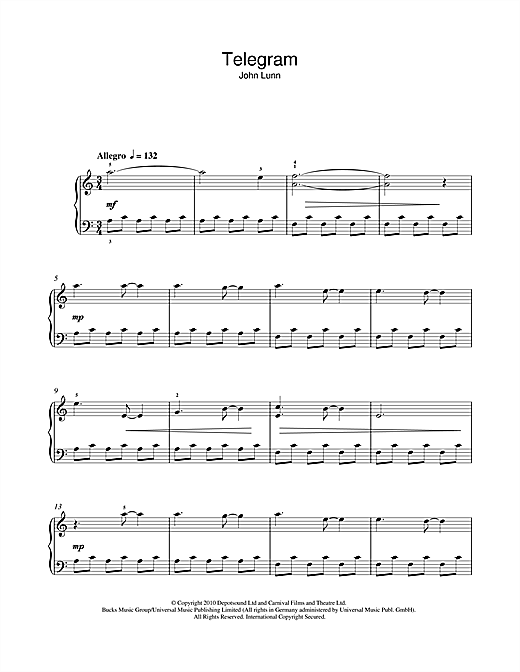 Telegram Sheet Music