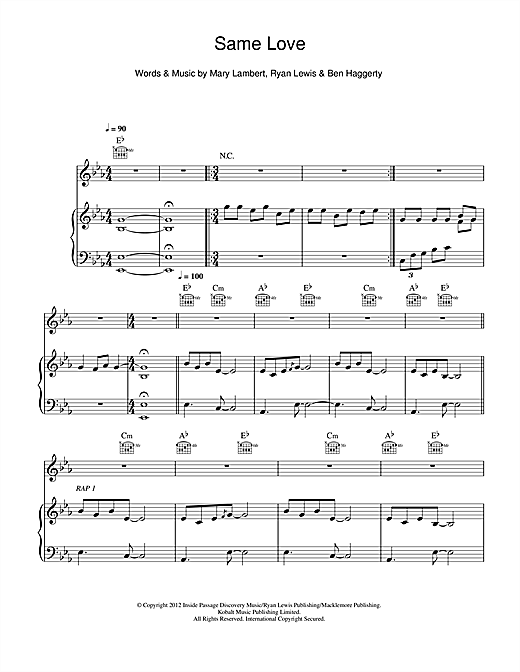 Same Love Sheet Music