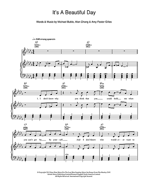 It's A Beautiful Day Sheet Music