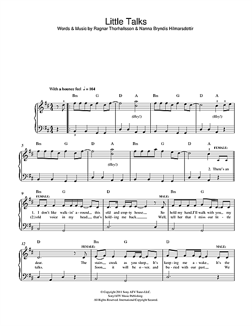 Little Talks Sheet Music