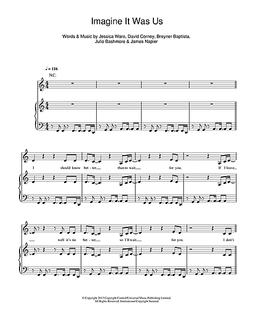 Imagine It Was Us Sheet Music