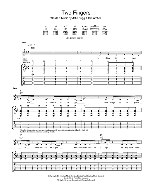 Two Fingers Sheet Music